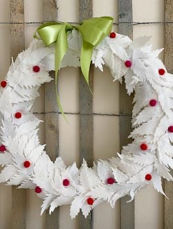 White Christmas Wreath Craft