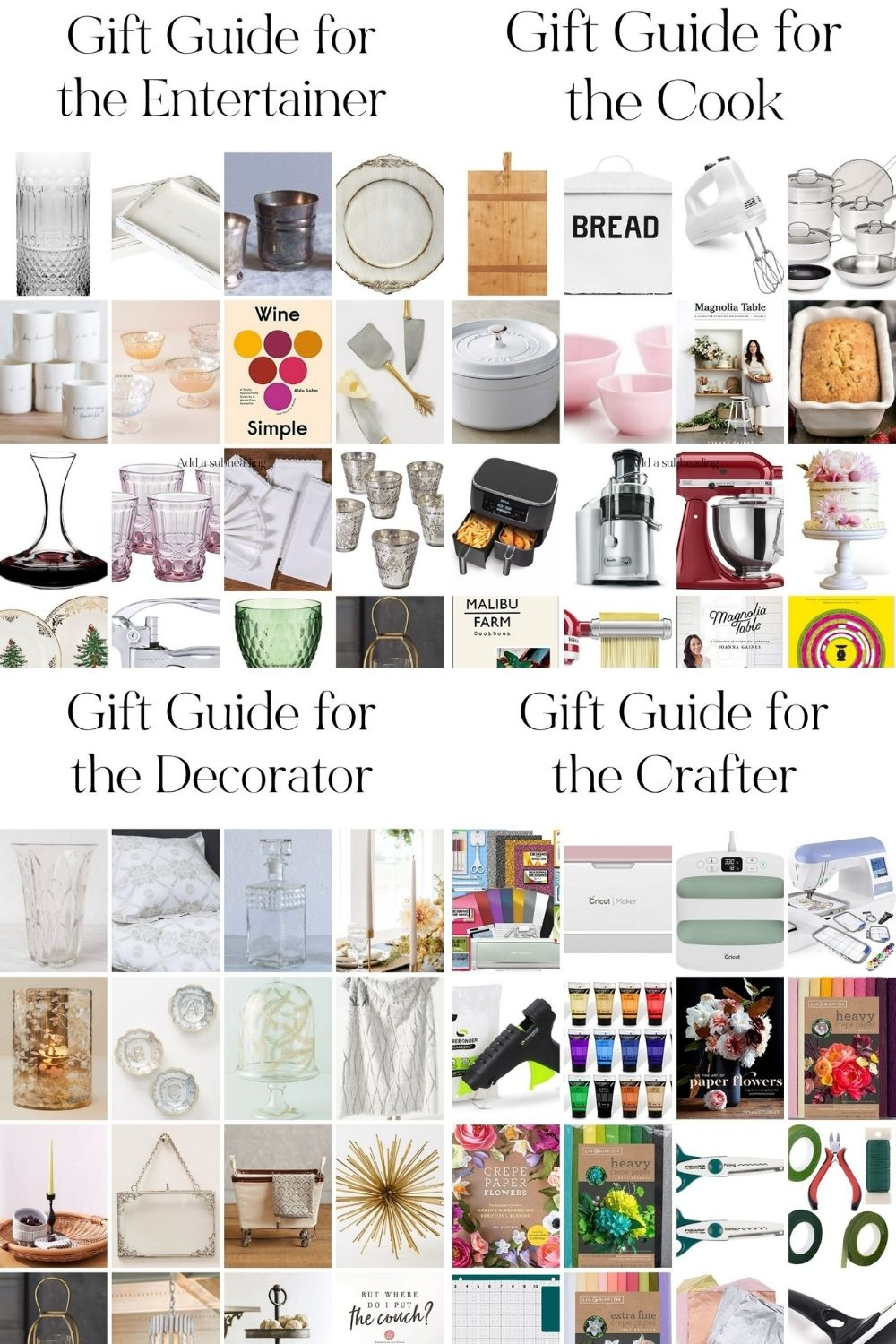I finally started my Christmas shopping, and also came up with my own Christmas wish list. I ended up creating four holiday Gift Guides!