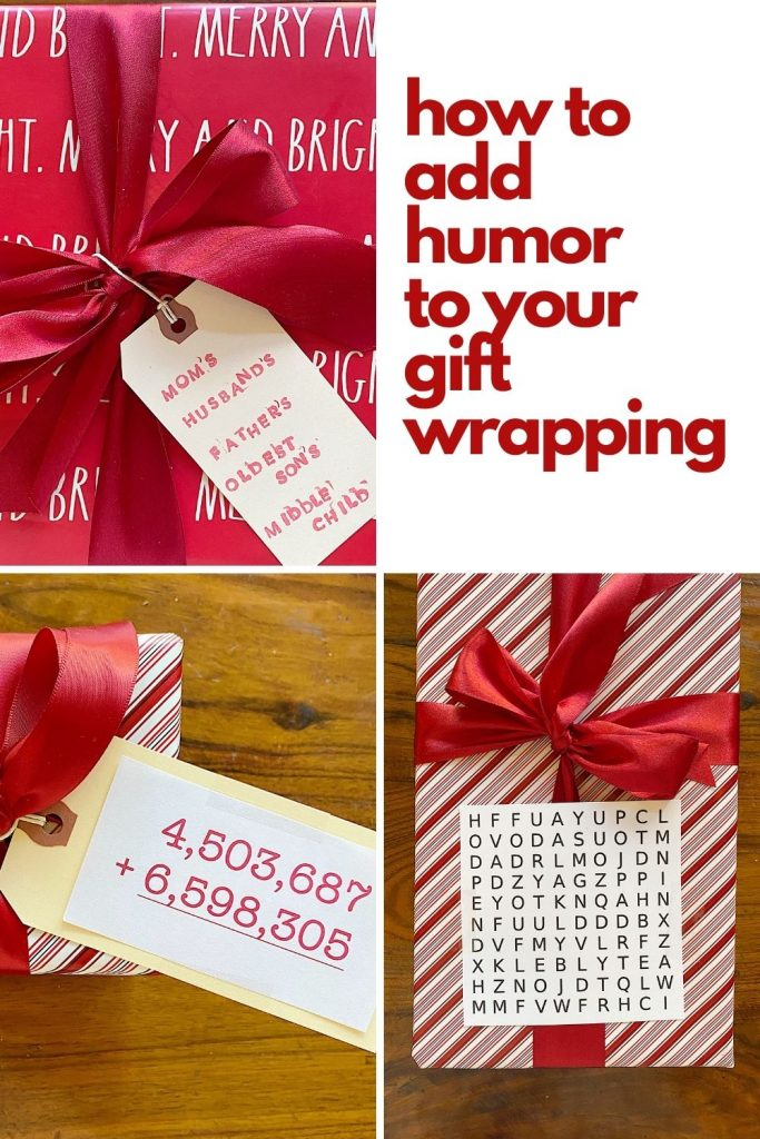 how to add humor to your gift wrapping