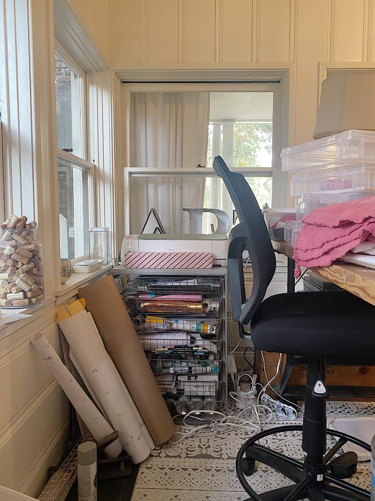 Craft Room Organization Before
