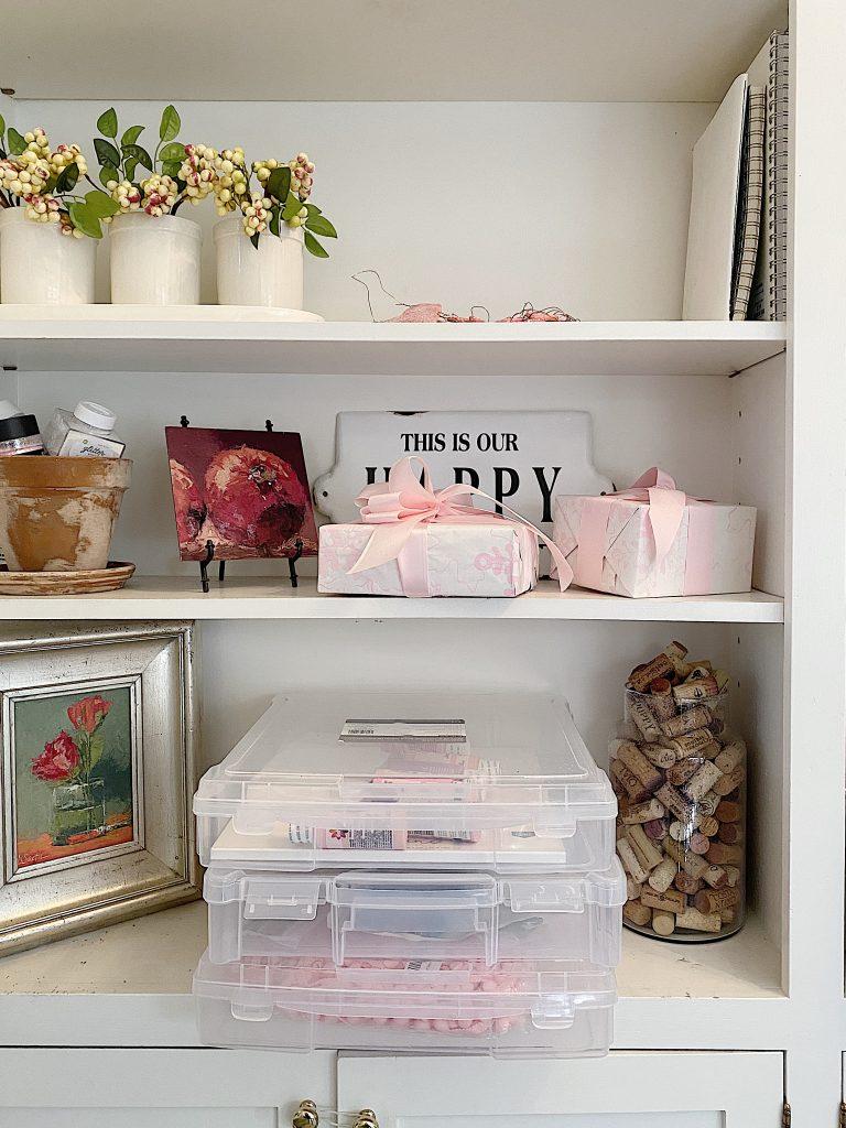 Craft Room Organization Project Bins