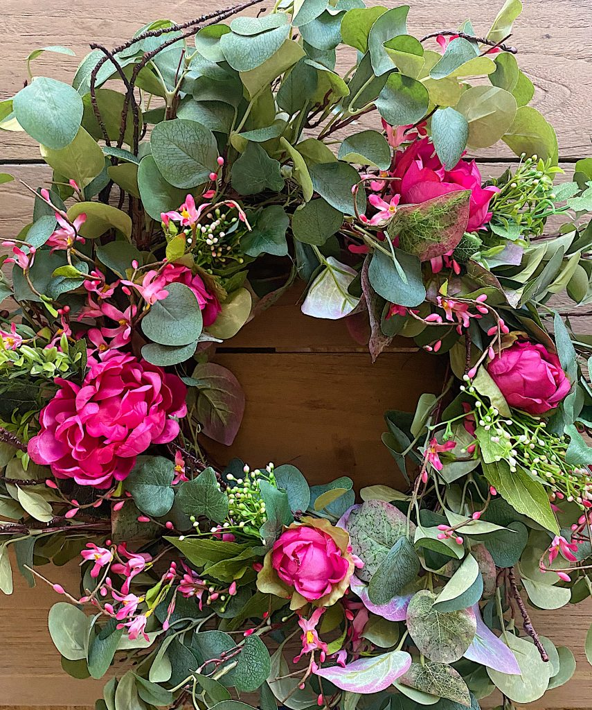 DIY Front Porch Wreath Floral Filler
