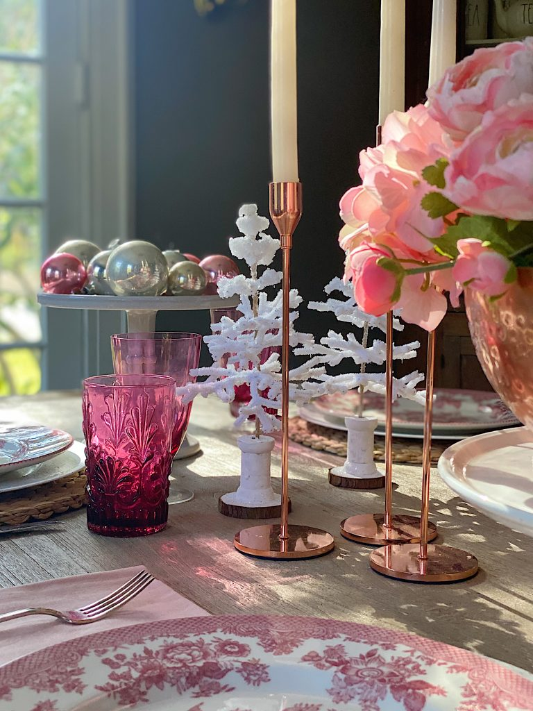 Dining Room Decor Trees and Candles
