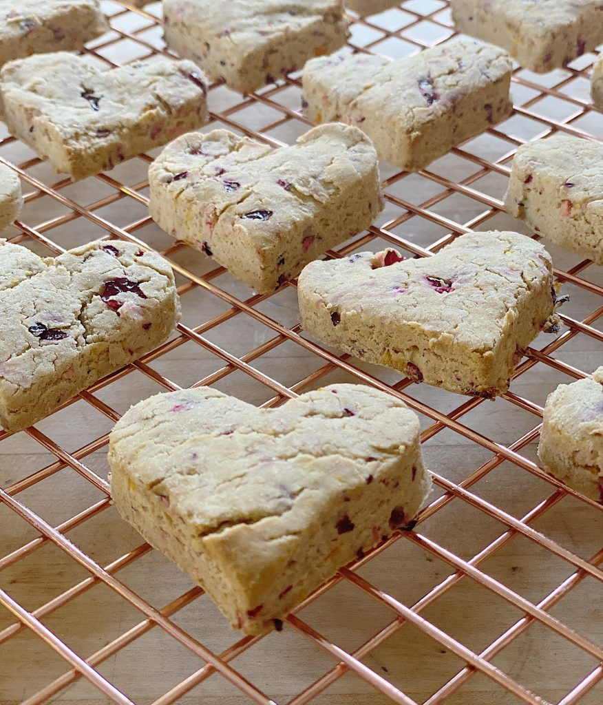 I had fun today converting one of my favorite recipes to gluten free. I am thrilled to share my Gluten Free Cranberry Orange Scones recipe.