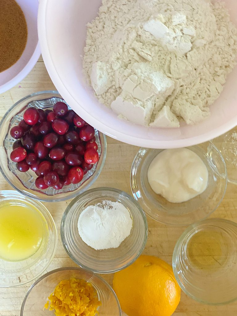 Gluten Free Cranberry Orange Scones Recipe Ingredients