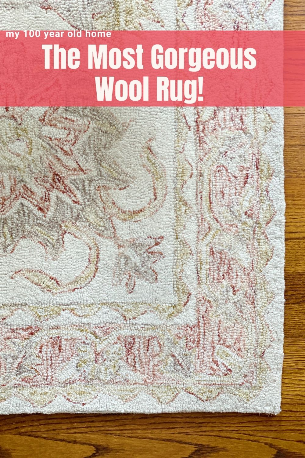I absolutely love our new dining room rug. It's the perfect color, size and it's all wool. It's from Loloi Rugs!