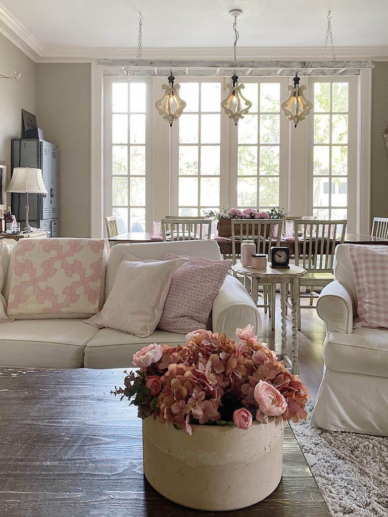 Home Decor Ideas with Custom Fabric Pink Pillows