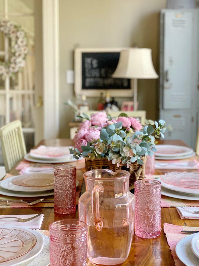 Home Decor Ideas with Custom Fabric Pom Pom Napkins
