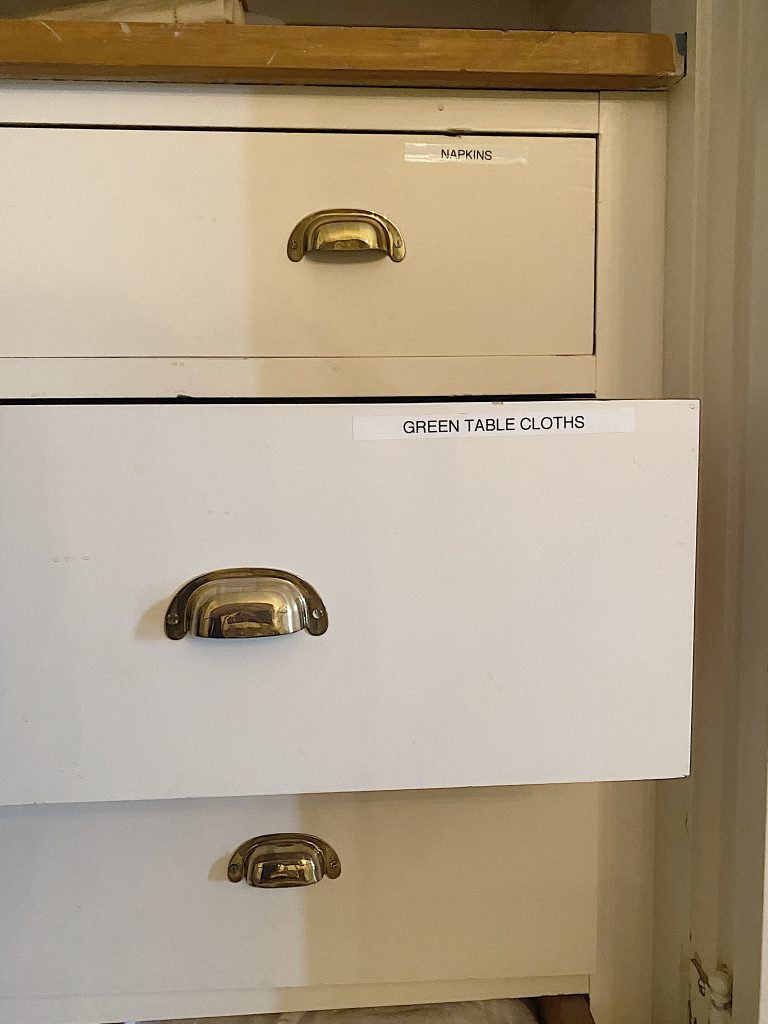 Organize a Linen Closet Label Drawers