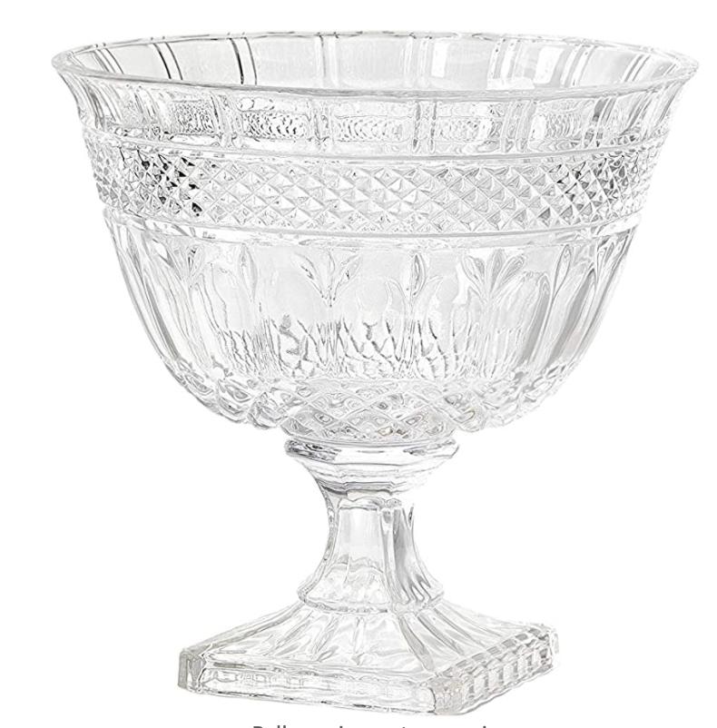 Pedestal Cut Glass Bowl