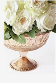 Pedestal Pink Bowl