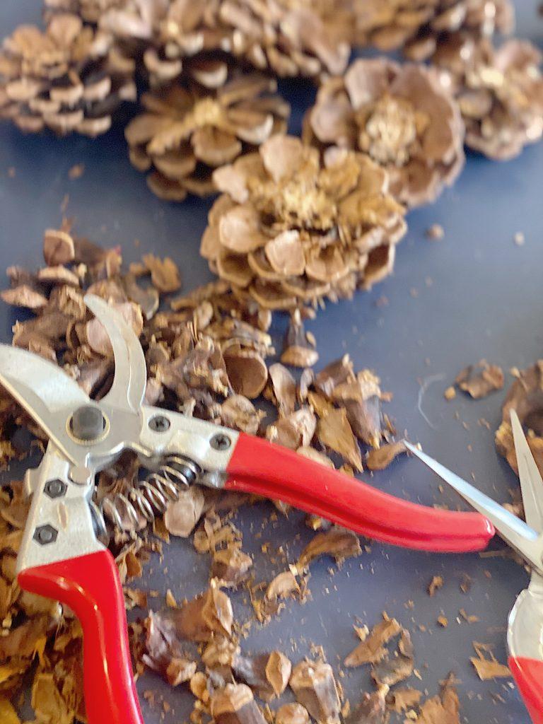 Pine Cone Wreath DIY Tools