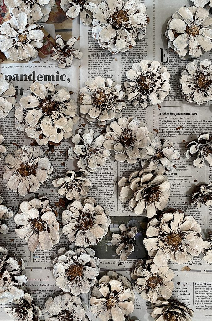Pine Cone Wreath DIY White Painted Pine Cones