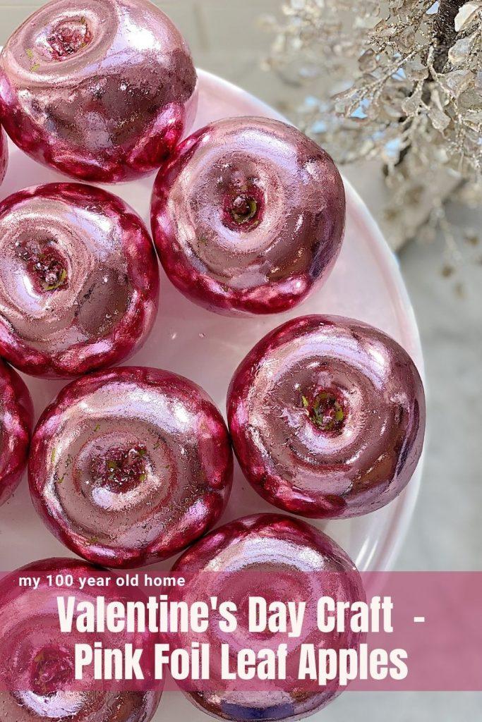 Pink foil leaf apples