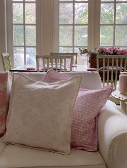 Pink Home Decor Ideas with Custom Fabric