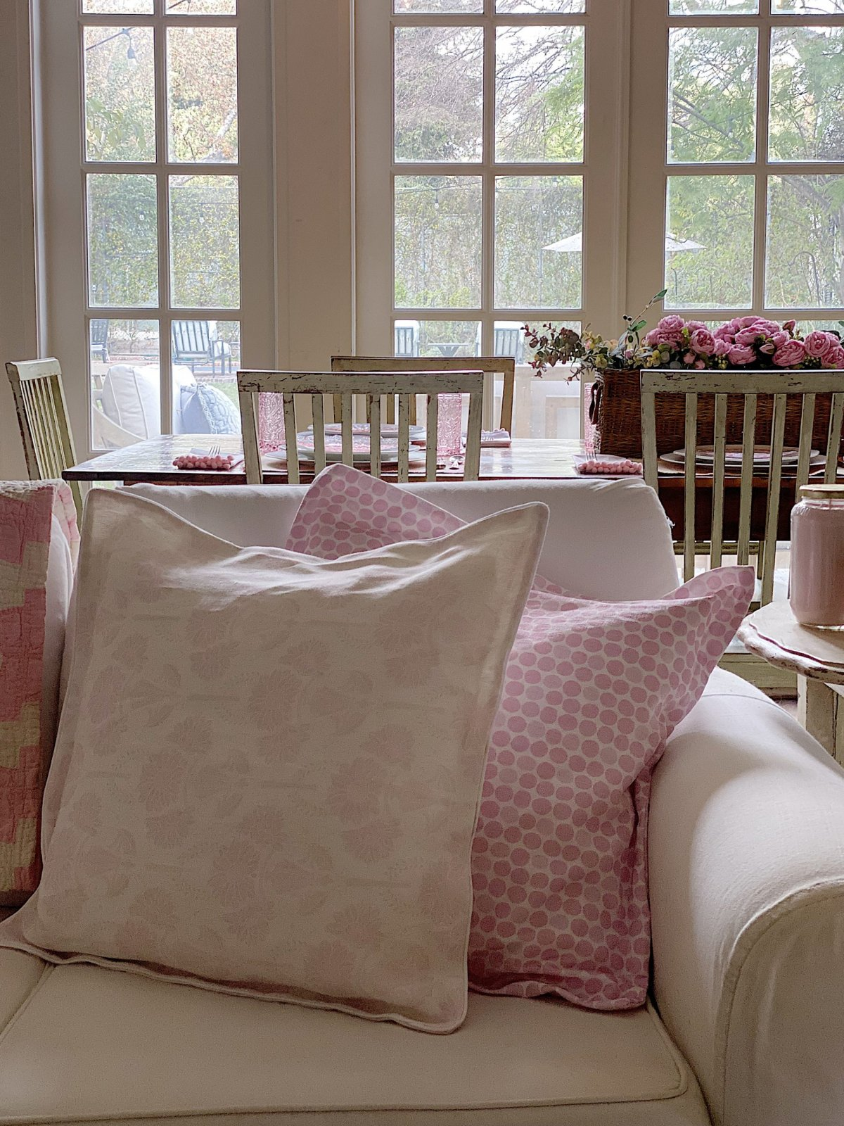 Pink Home Decor Ideas with Custom Fabric