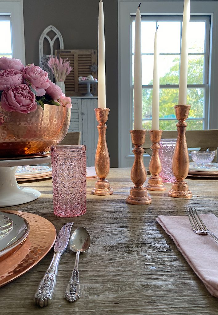 Rose Gold Candlestick Holders DIY