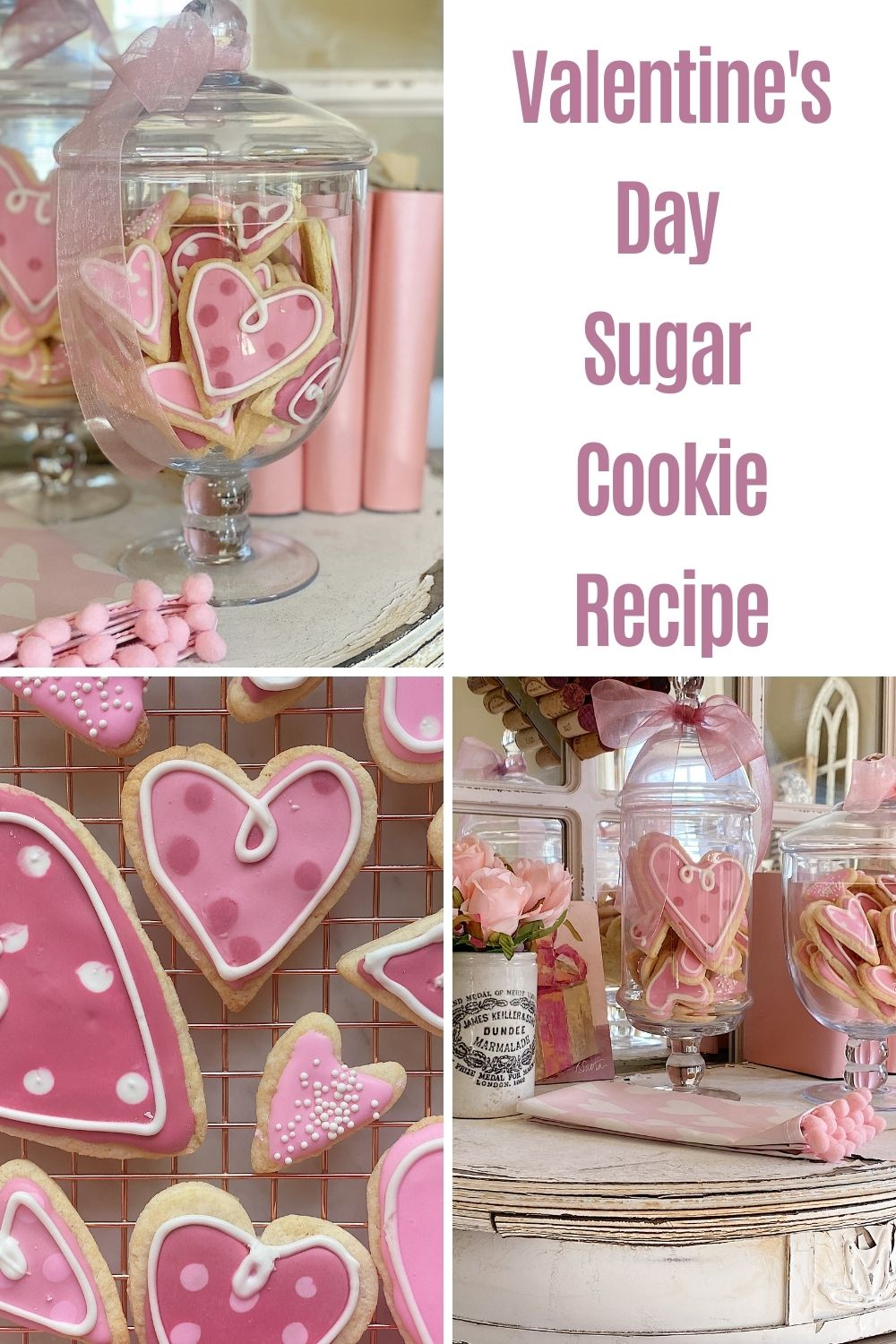 These Valentine's Day sugar cookies are so much fun to make. I love that everyone can learn how to decorate these cookies, regardless of whether you have done it before.