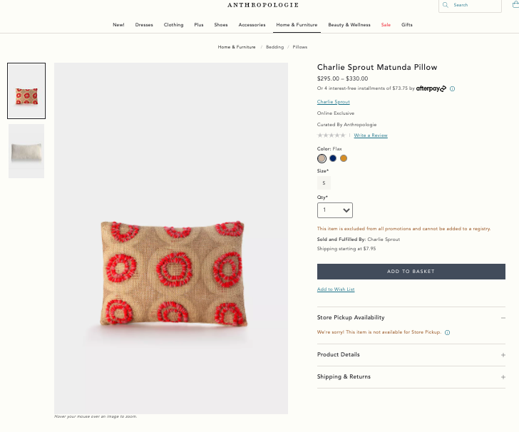 Anthropologie-Pillow