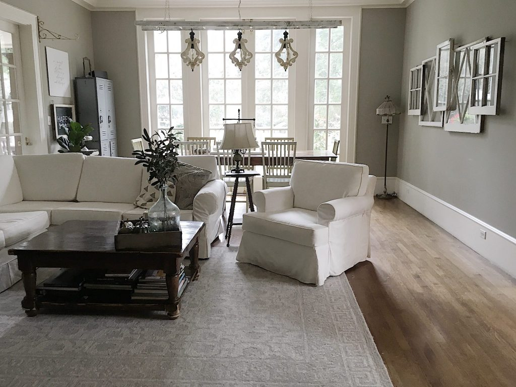 Family Room White Sectional
