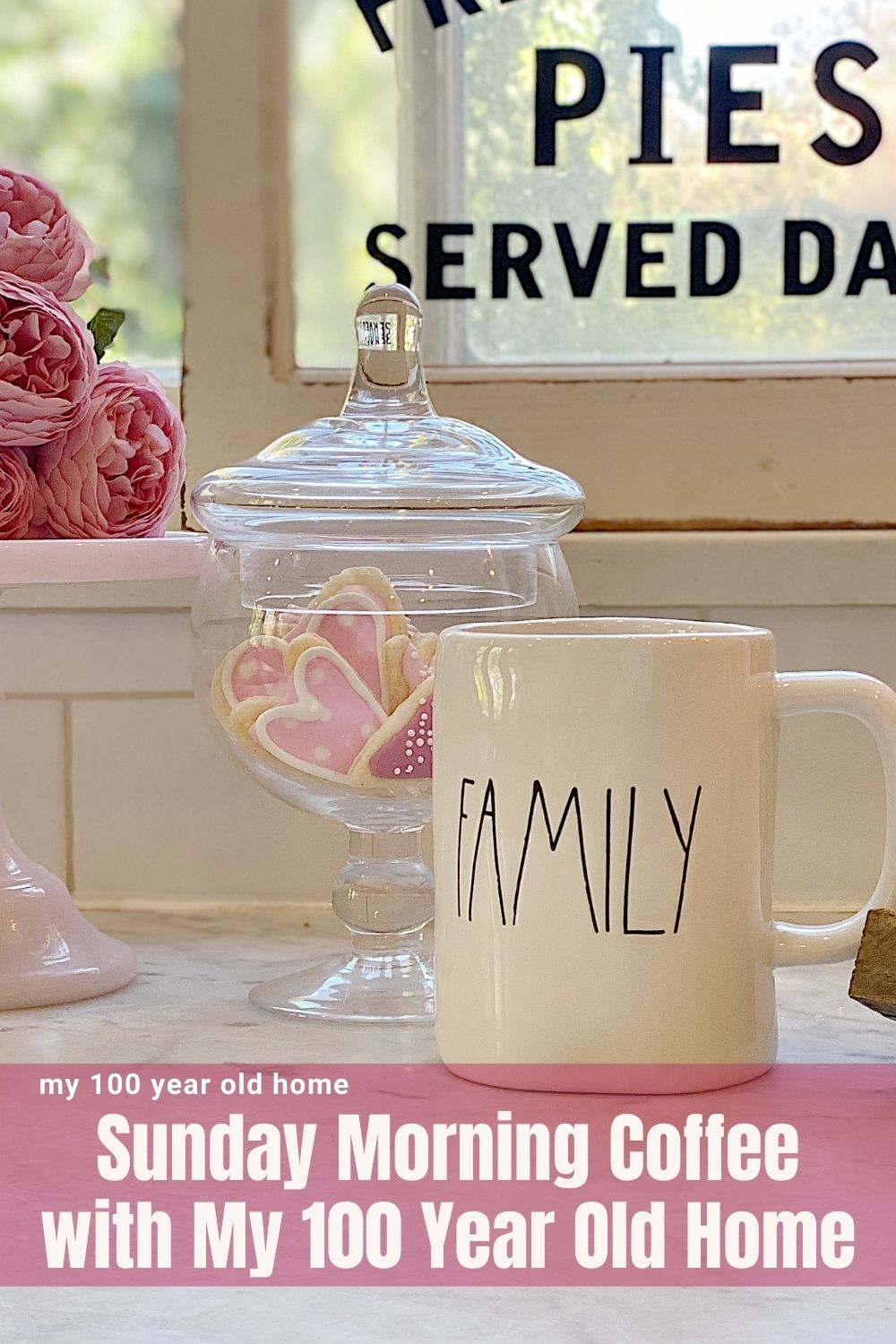 Thanks for joining me for Sunday morning coffee. Today I am sharing my weekly thoughts about entertaining, decor, crafts, recipes, and my theme for February ... Living Beautifully.