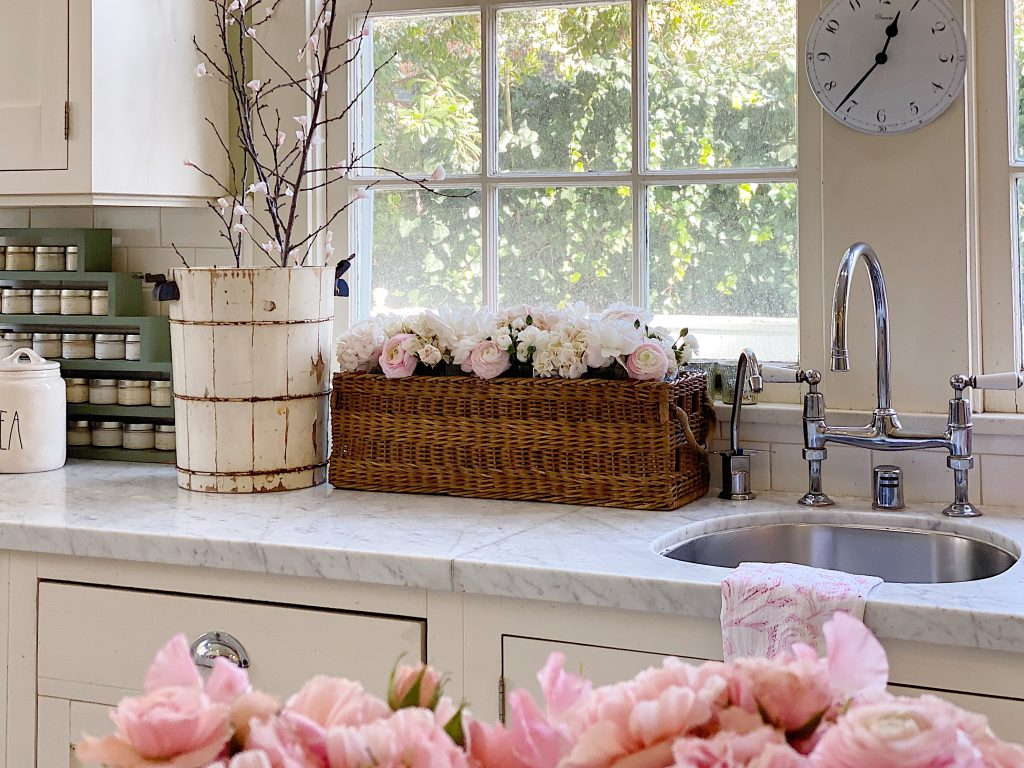 Fresh Flowers in The Kitchen