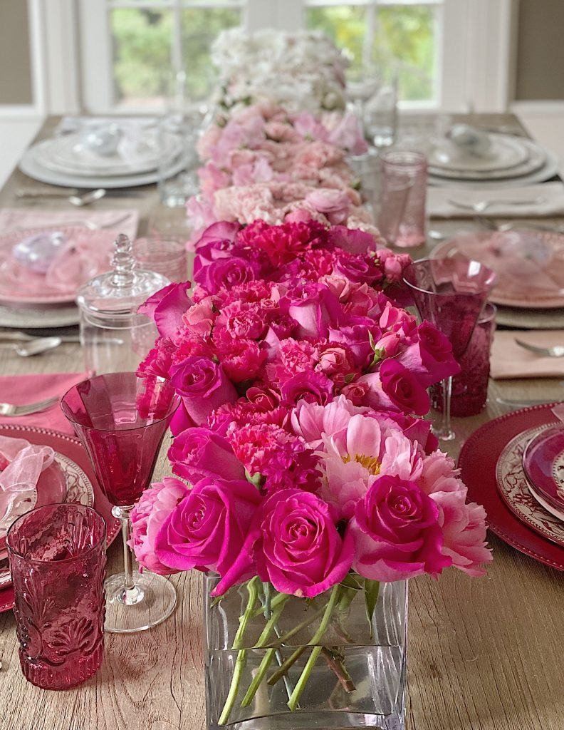 Ombre Flowers Table