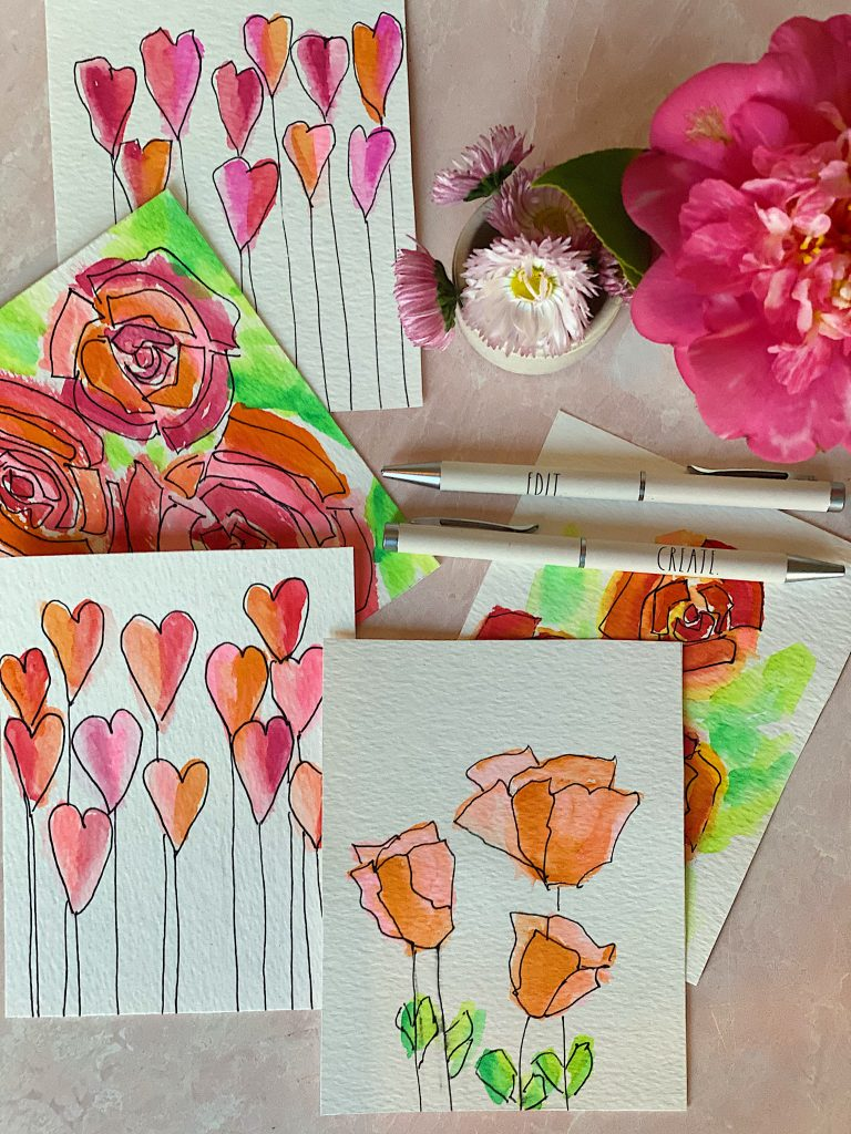Paint Valentine's Day Cards