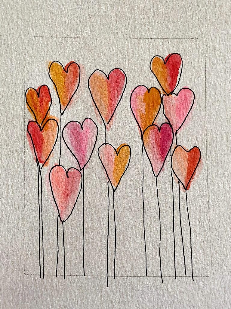 Paint Valentine's Day Cards 5