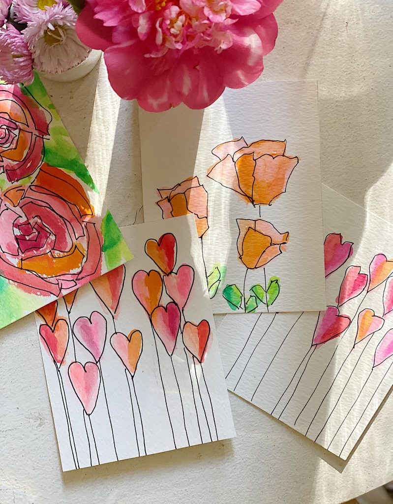 Paint Valentine's Day Cards DIY