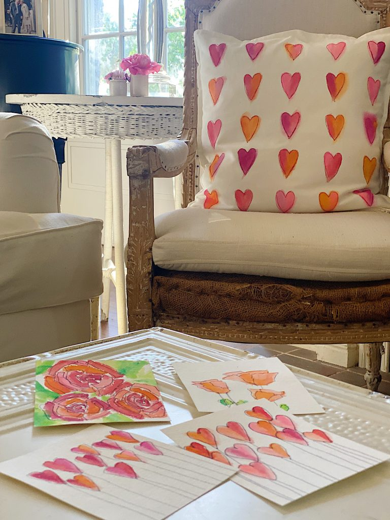 Paint Your Own Valentine's Day Cards