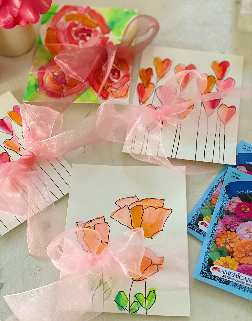 Paint Your Own Valentine's Day Cards DIY