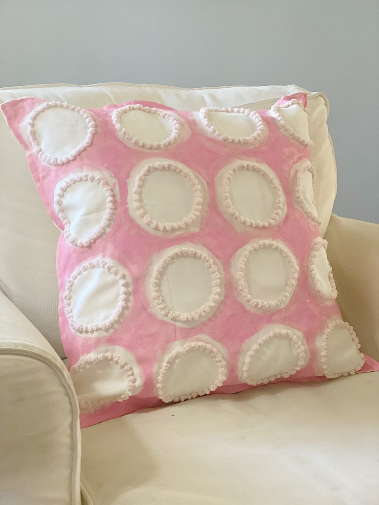 Painted and Embroidered Pillow DIY