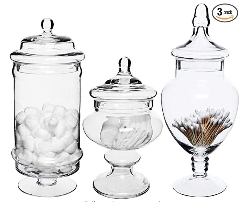 Set of 3 Apothecary Jars