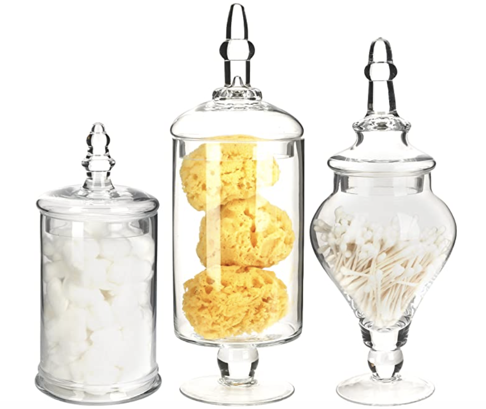 Set of 3 Medium: Large Apothecary Jars