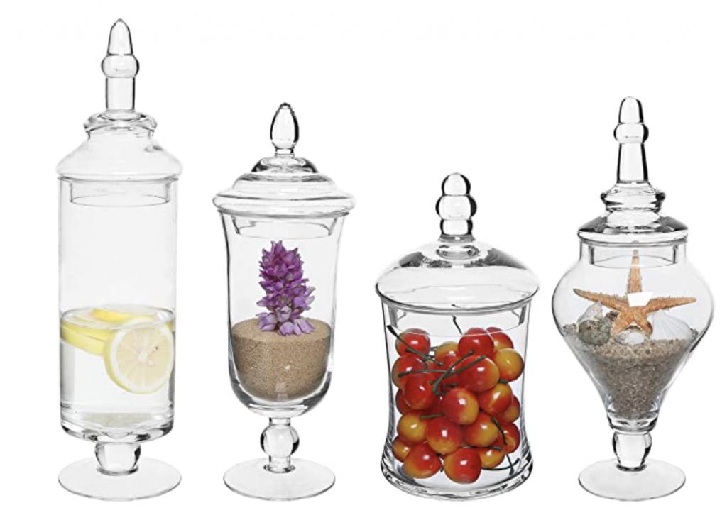 Set of 4 Apothecary Jars
