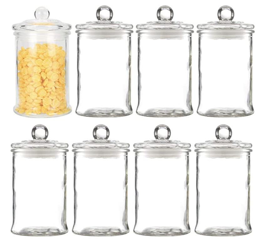Set of 8 12oz Apothecary Jars
