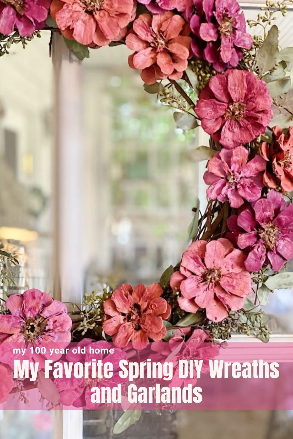 I love to make wreaths and garlands. Wreaths are so much fun to make and today I am sharing my favorite DIY wreaths and garlands for spring.