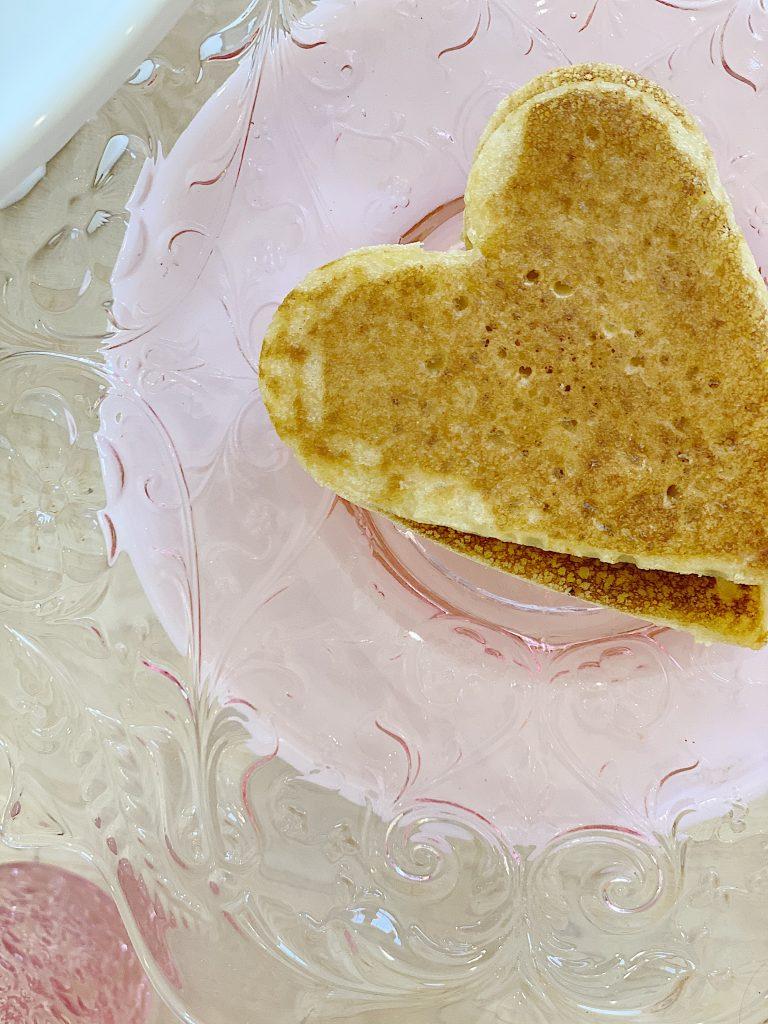 Valentine's Day Breakfast gluten Free Pancakes
