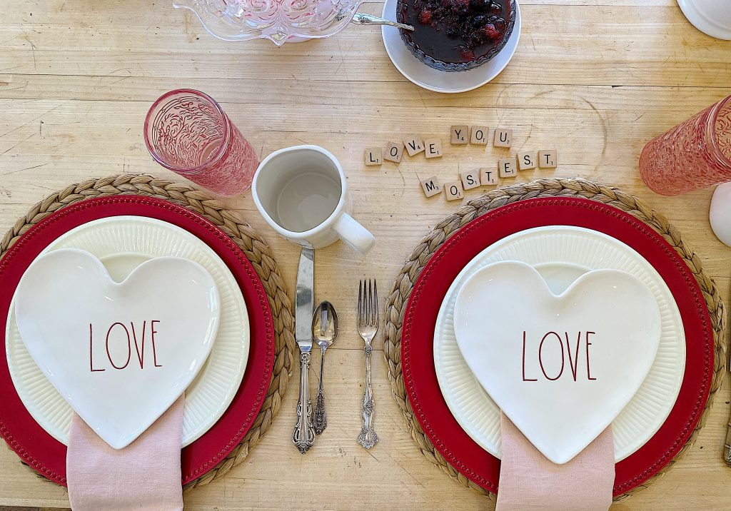 Valentine's Day Breakfast with Rae Dunn Plates