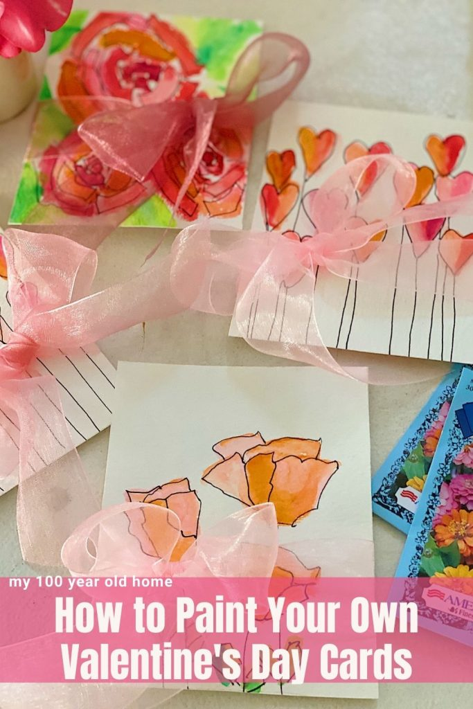 How to Paint Your Own Valentine's Day Cards