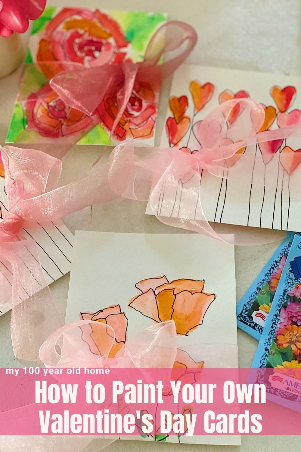 Today I am going to teach a very fun paint your own Valentine's Day Cards DIY. These hand-painted cards look amazing and are very easy to make!
