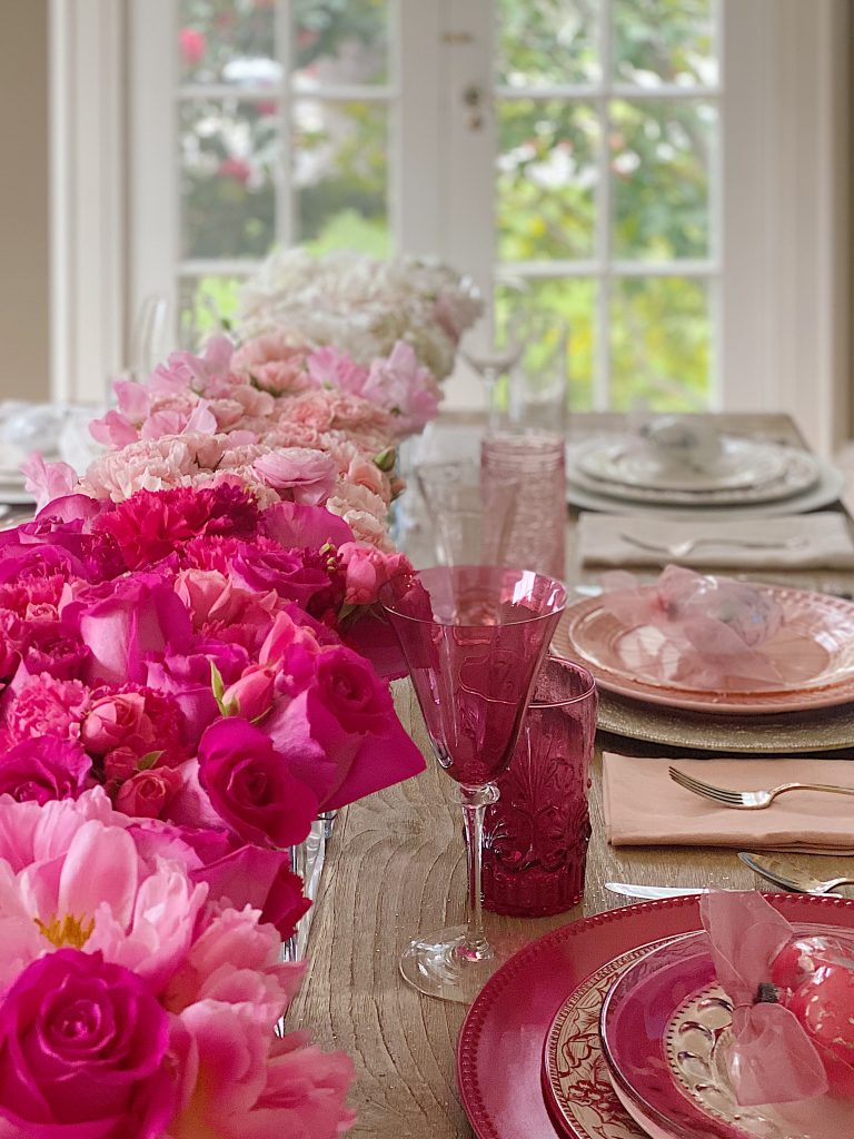 Valentine's Day Table Pink Decorations