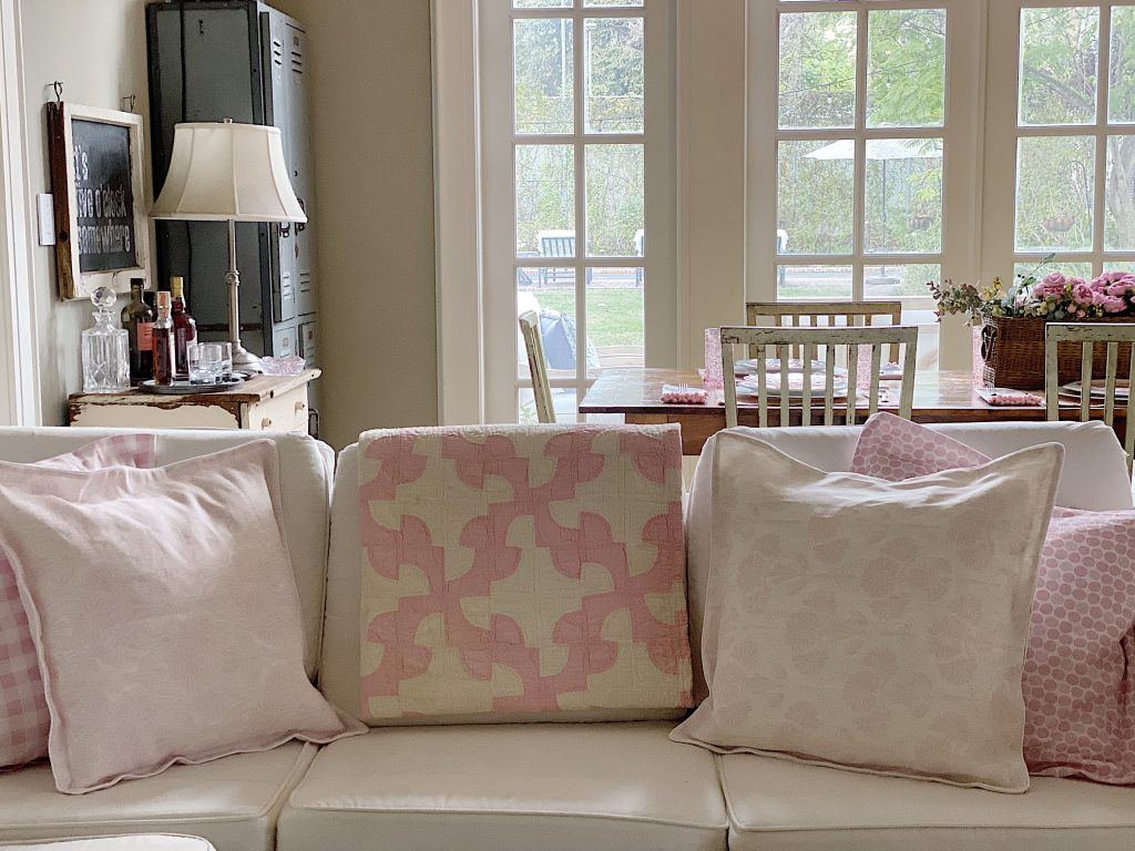 View of Pillows in Family Room