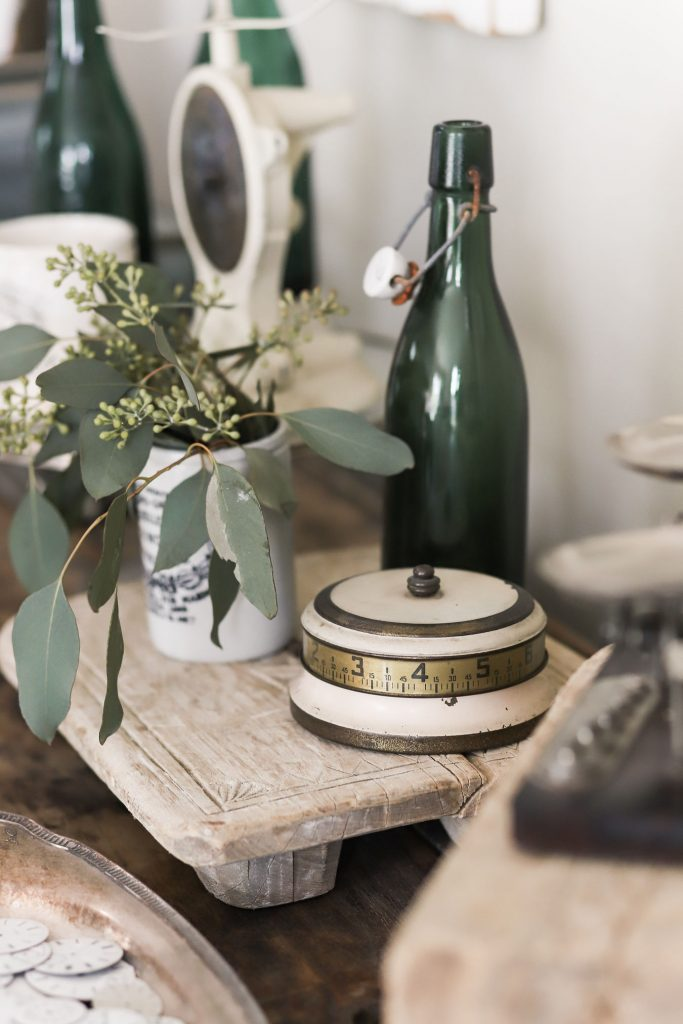 Vintage Antiques on the Counter