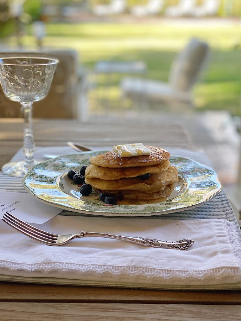 Blueberry Pancakes for Breakfast