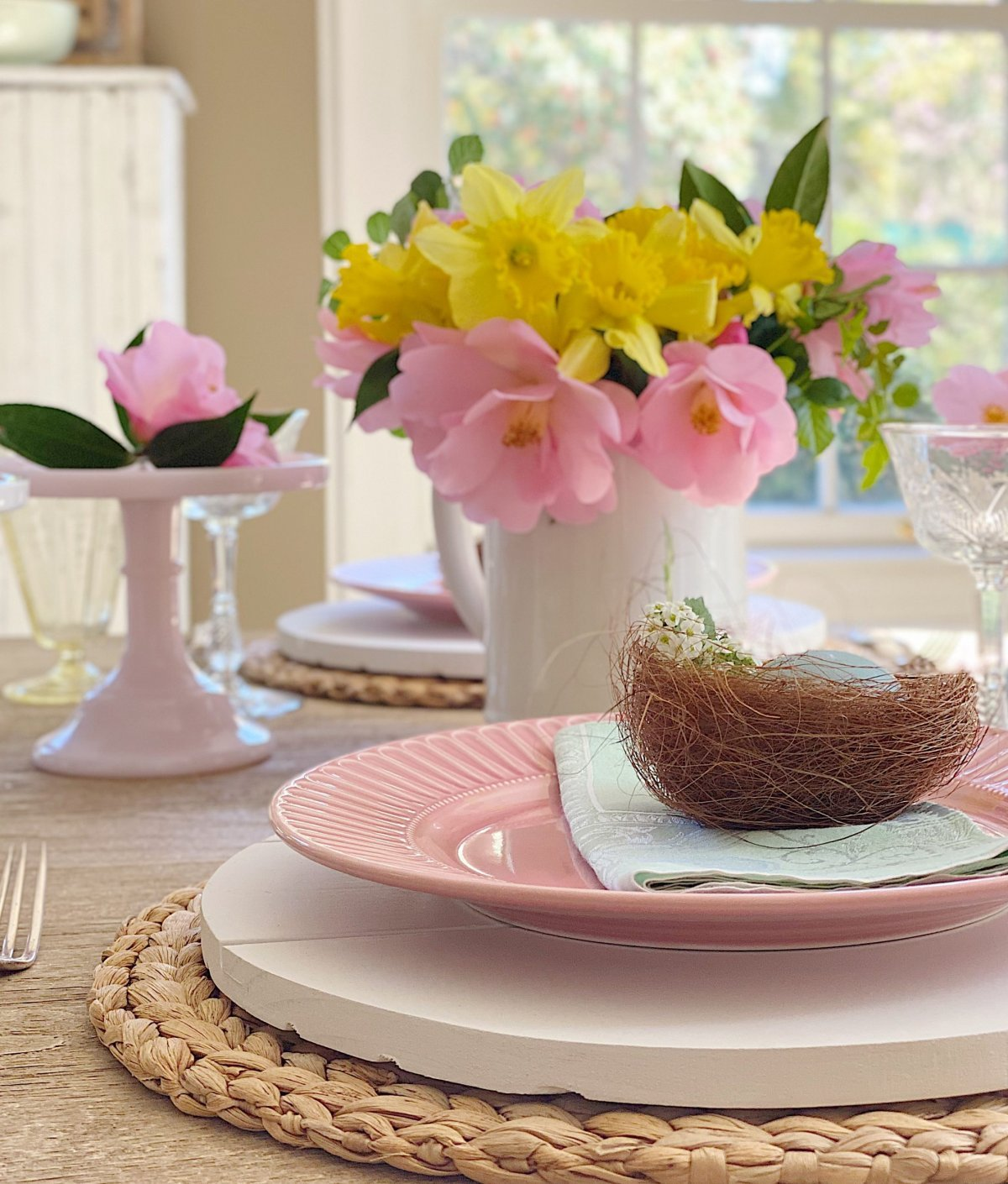 Colorful Table for Easter Dinner