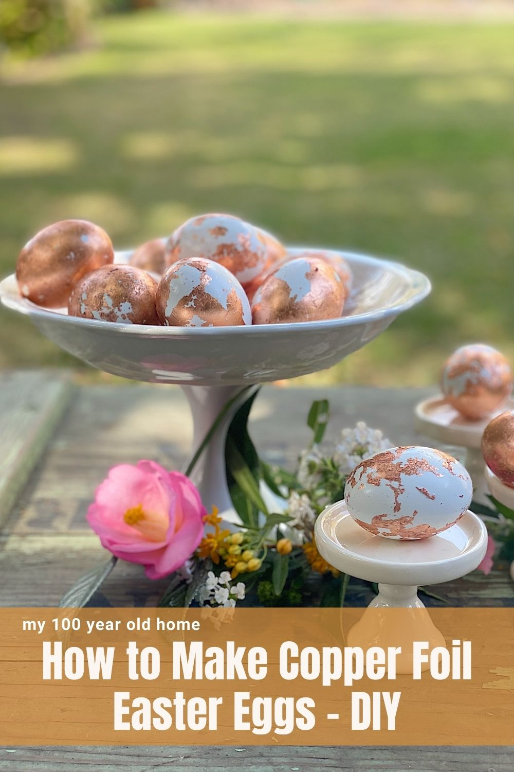 Easter is around the corner and I am sharing one of my favorite ideas for Easter eggs. I loved making these copper foil Easter eggs DIY.