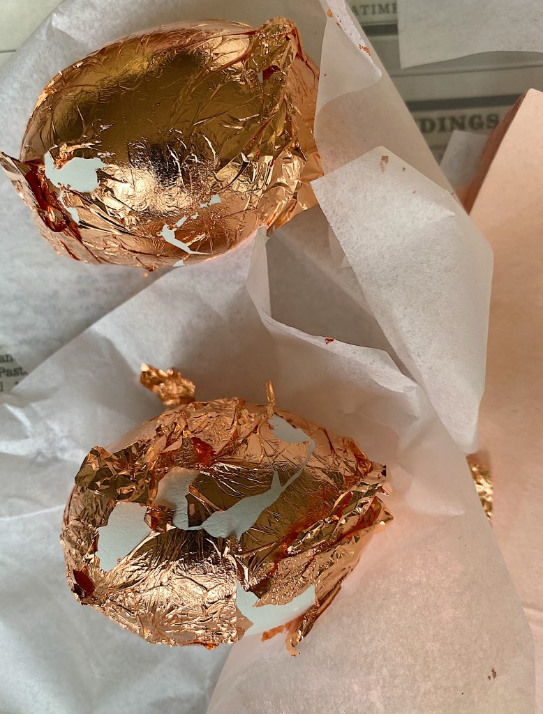 DIY How to Make Copper Foil Easter Eggs