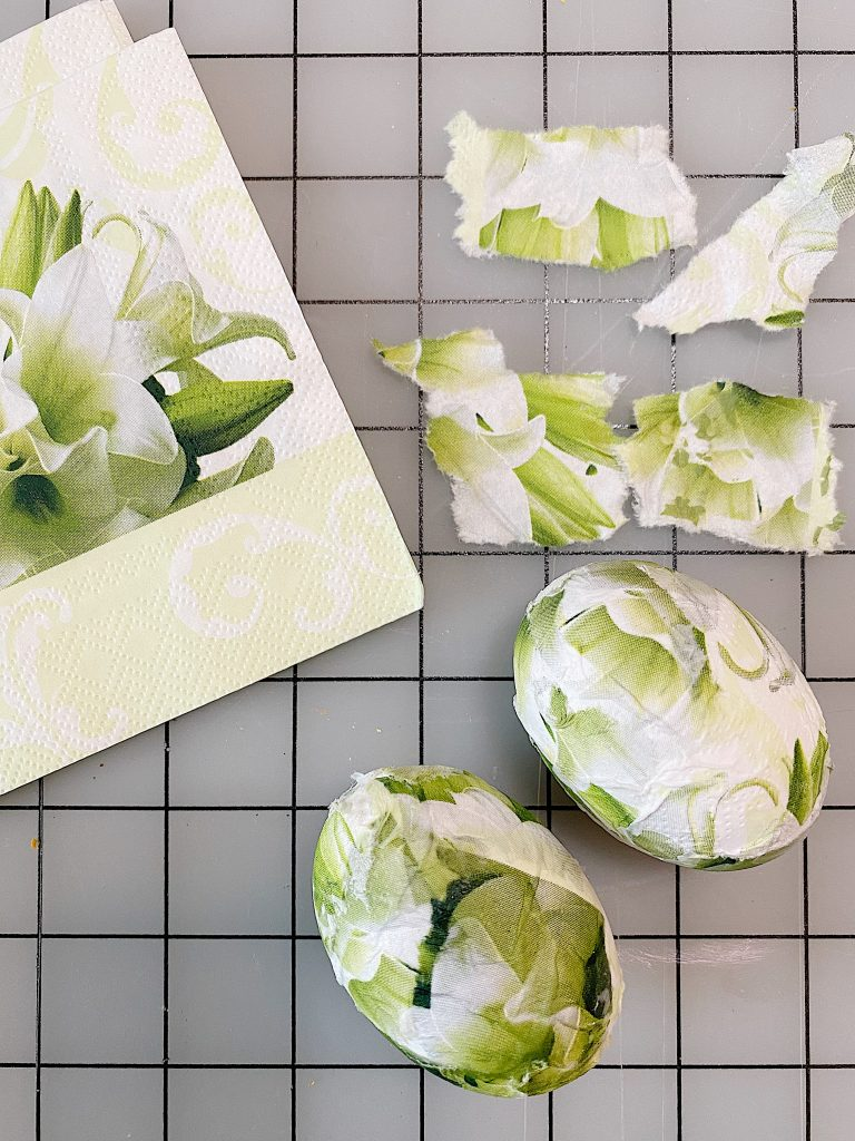 Decorating Eggs with Paper Napkins